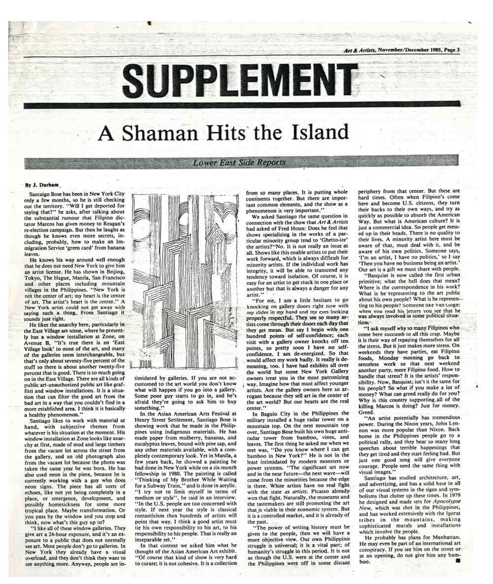 A Shaman Hits the Island