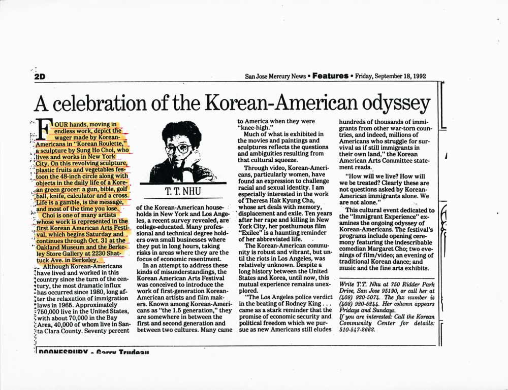 A celebration of the Korean-American odyssey