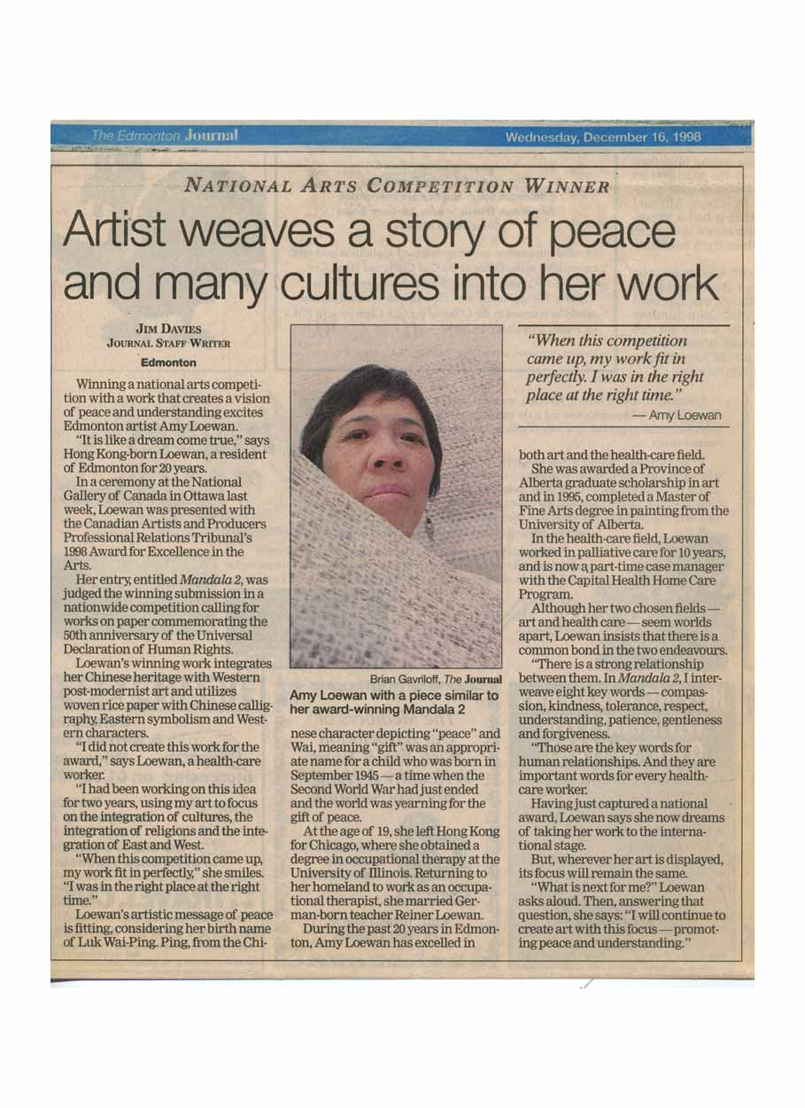 Artist Weaves a Story of Peace and Many into Her Work