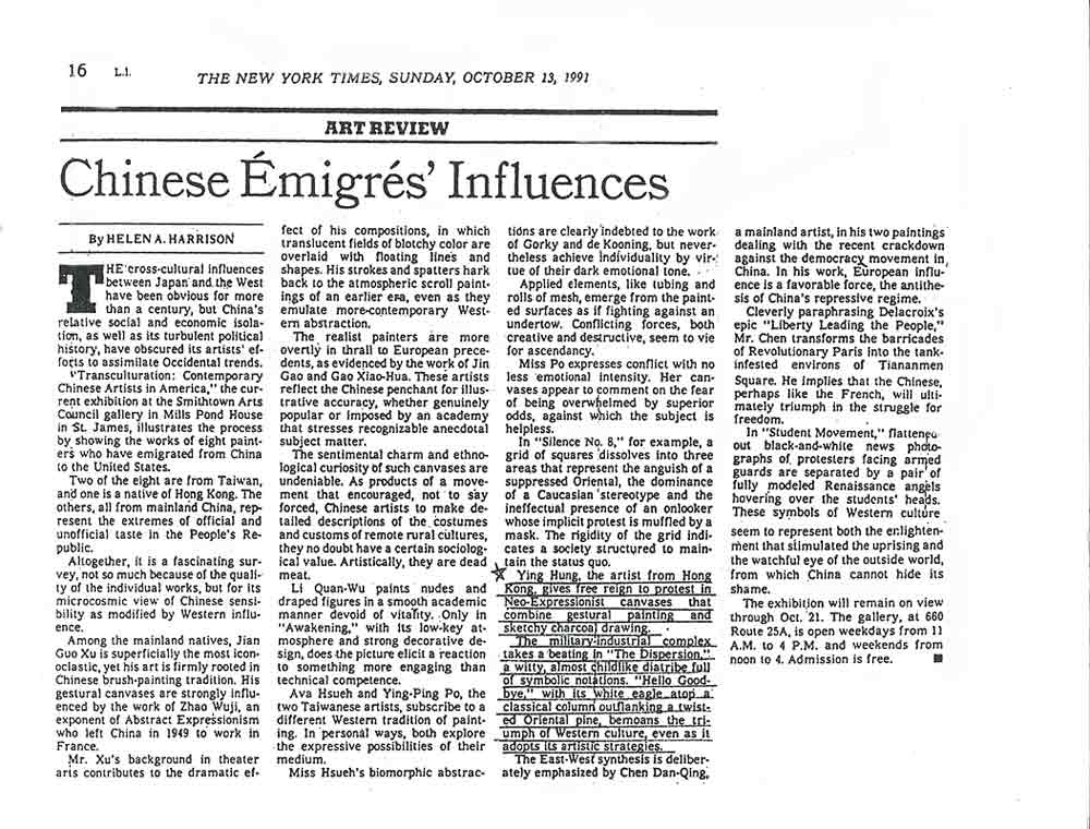 Chinese Émigrés' Influences