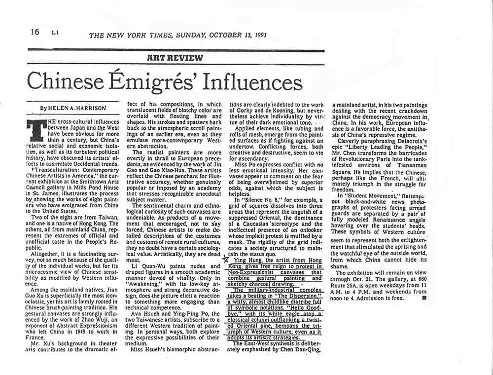 Chinese Émigrés' Influences