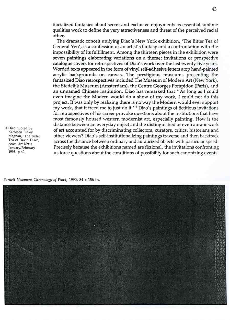 David Diao: Critical Painting and the Radical Sublime, article, pg 2