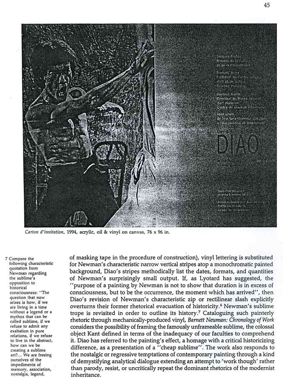 David Diao: Critical Painting and the Radical Sublime, article, pg 4
