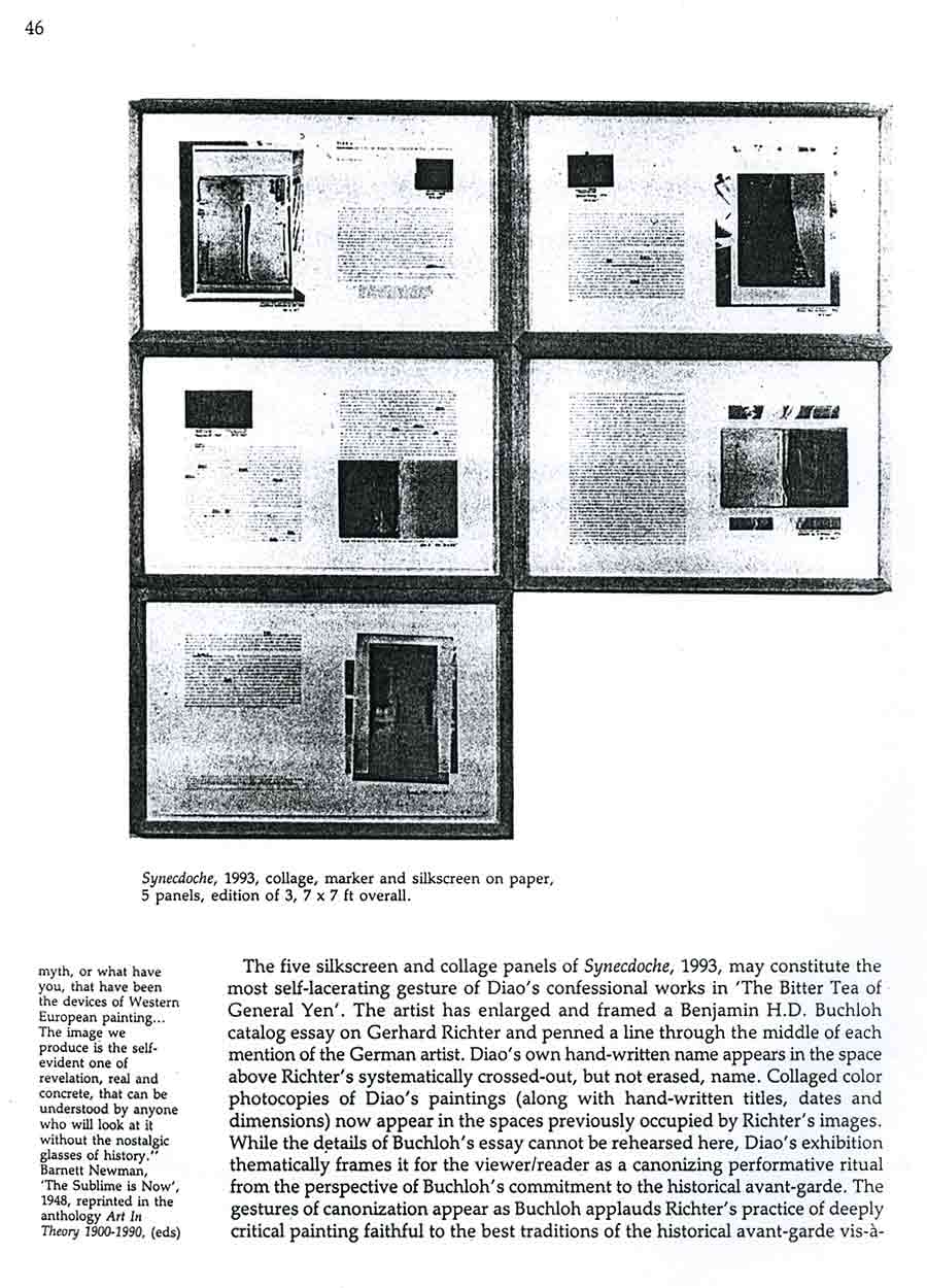 David Diao: Critical Painting and the Radical Sublime, article, pg 5