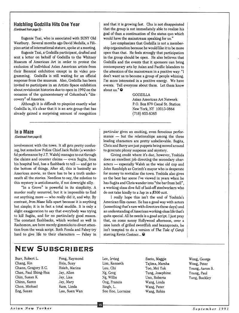 Hatchling Godzilla Hits One Year, article, pg 2