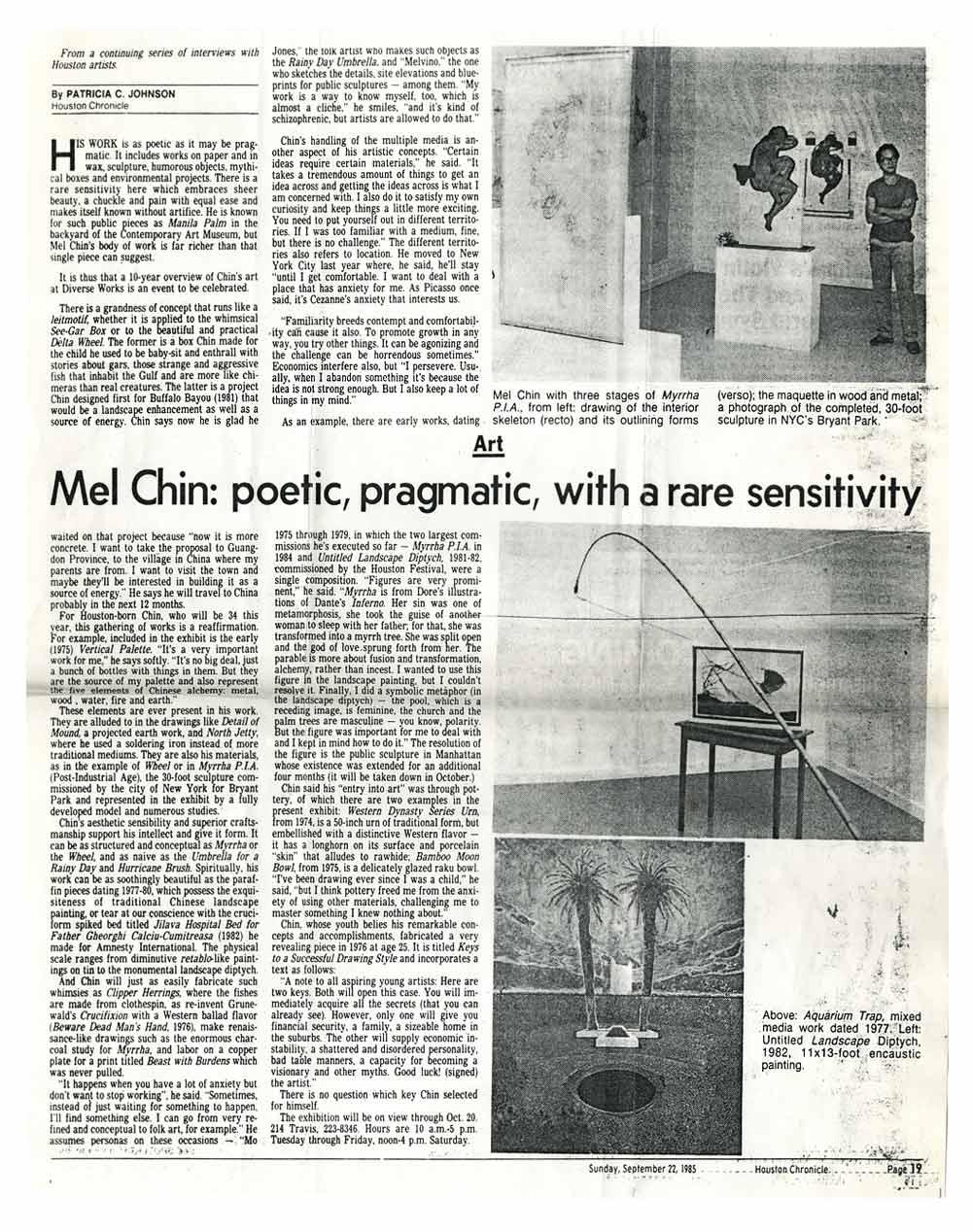Chin: poetic, pragmatic