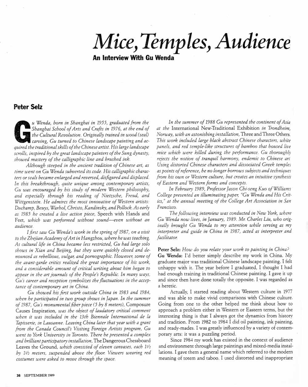 Mice, Temples, Audience, pg 1