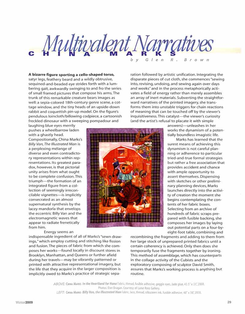 Multivalent Narratives: China Marks, article, pg 1