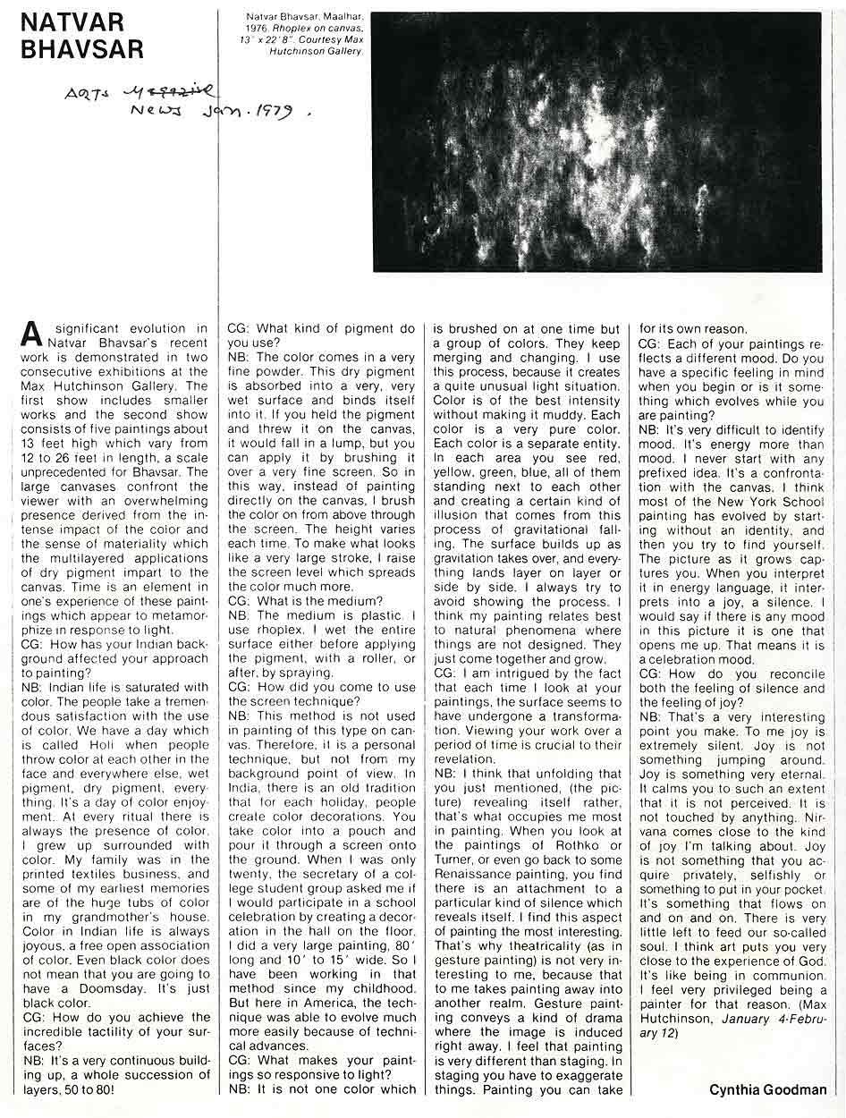 Natvar Bhavsar, article