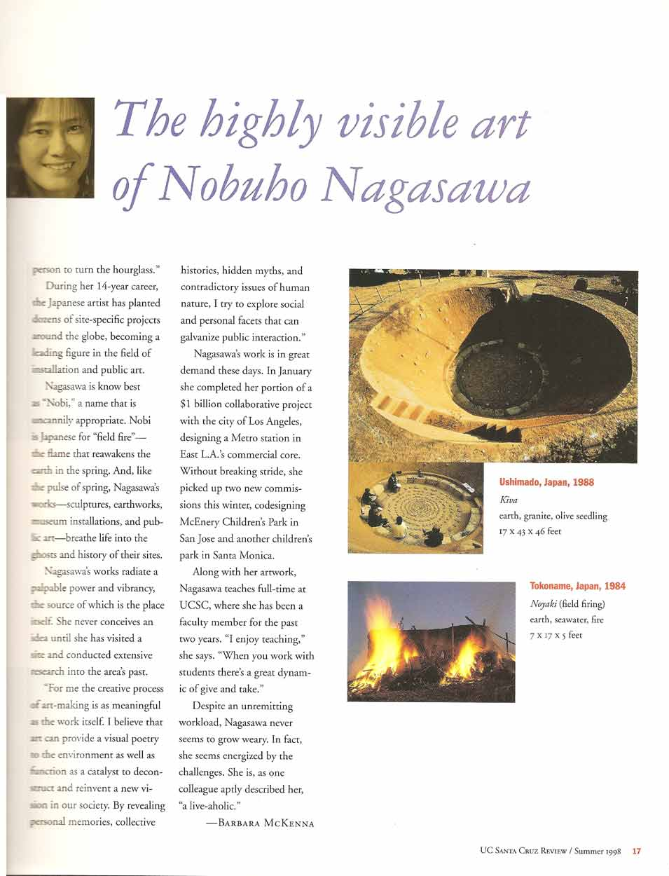 Site Specific: The Highly Visibe Art of Nobuho Nagasawa: pg 2