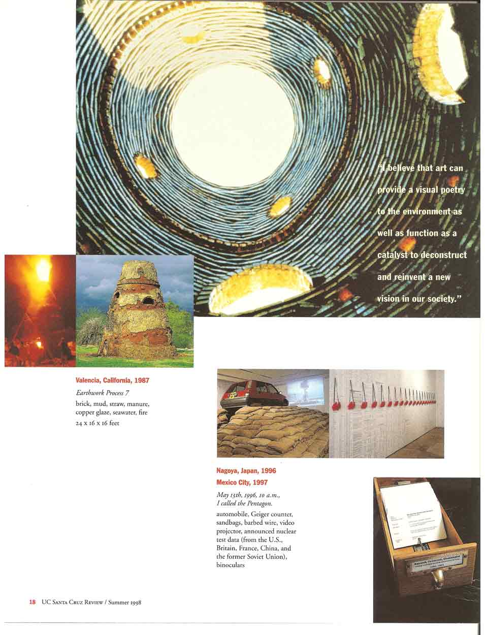 Site Specific: The Highly Visibe Art of Nobuho Nagasawa: pg 3