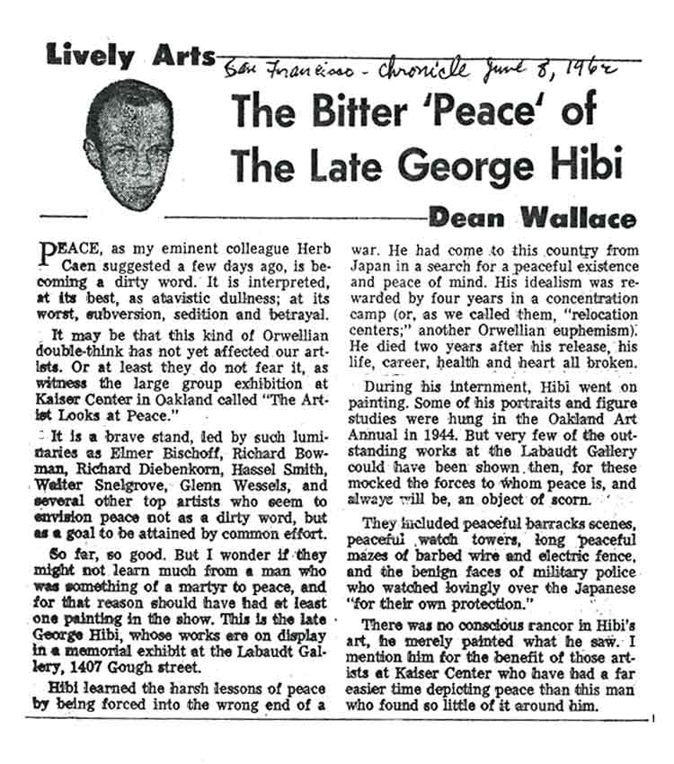 The Bitter 'Peace' of the Late George Hibi, article