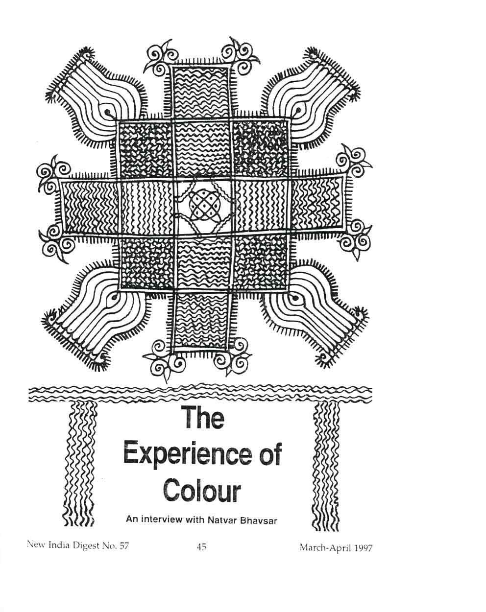 The Experience of Colour: An Interview With Natvar Bhavsar, article, pg 1