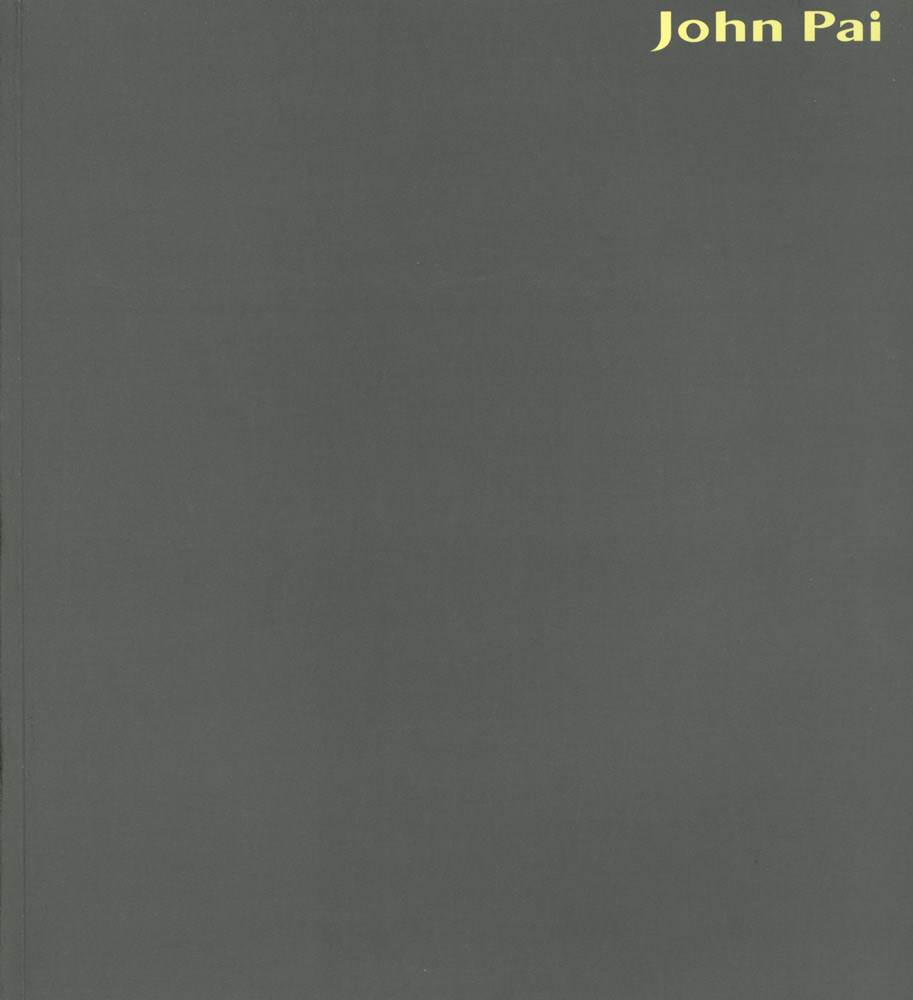John Pai Sculpture: Poetics of Space, cover page