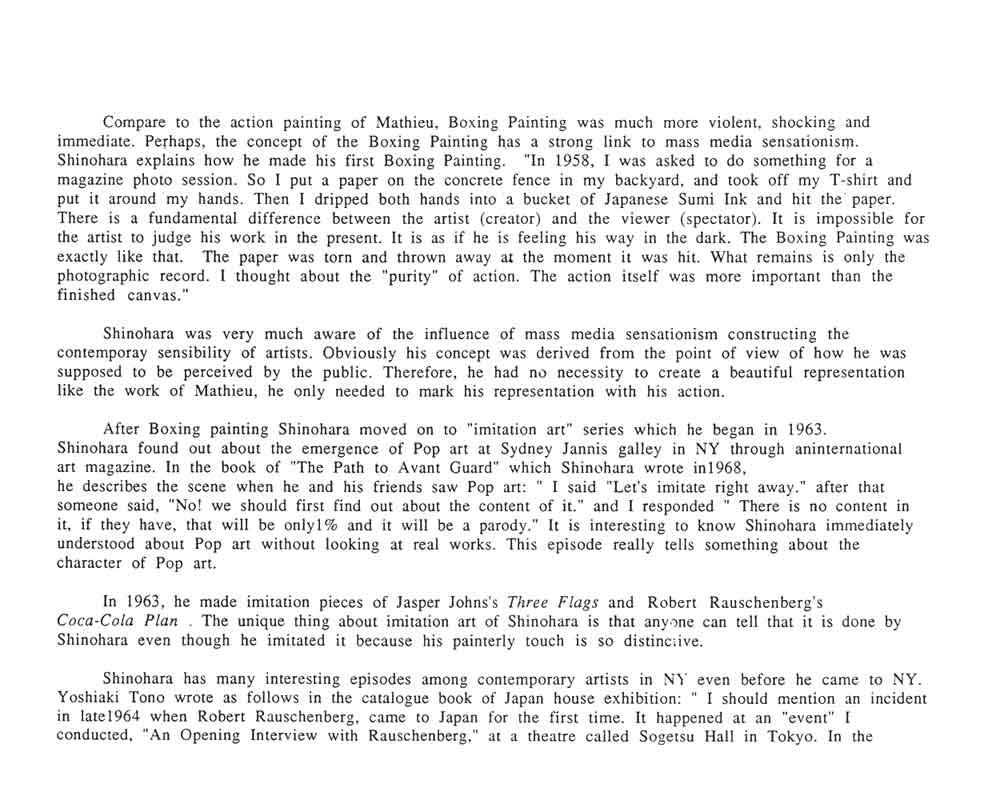 Ushio Shinohara's biography, pg 2