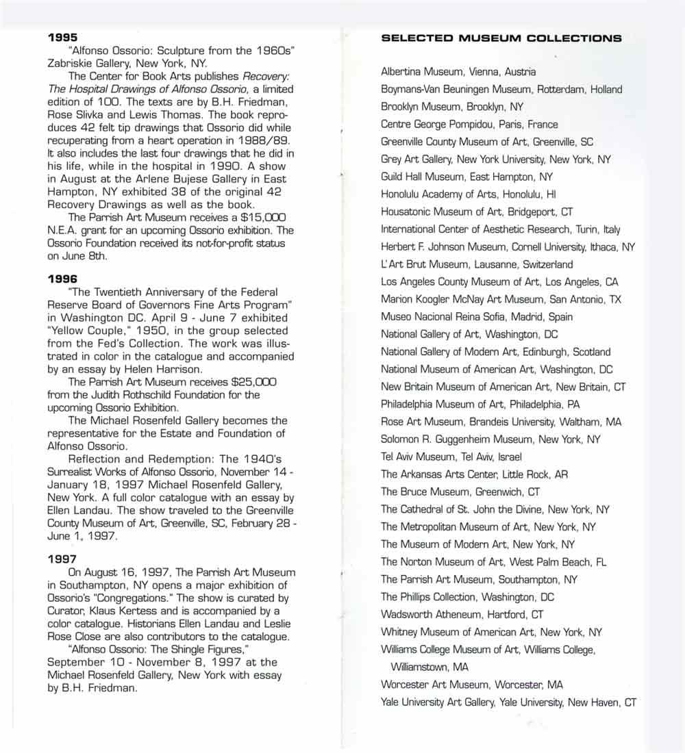 Alfonso Ossorio's Biography, pg 4
