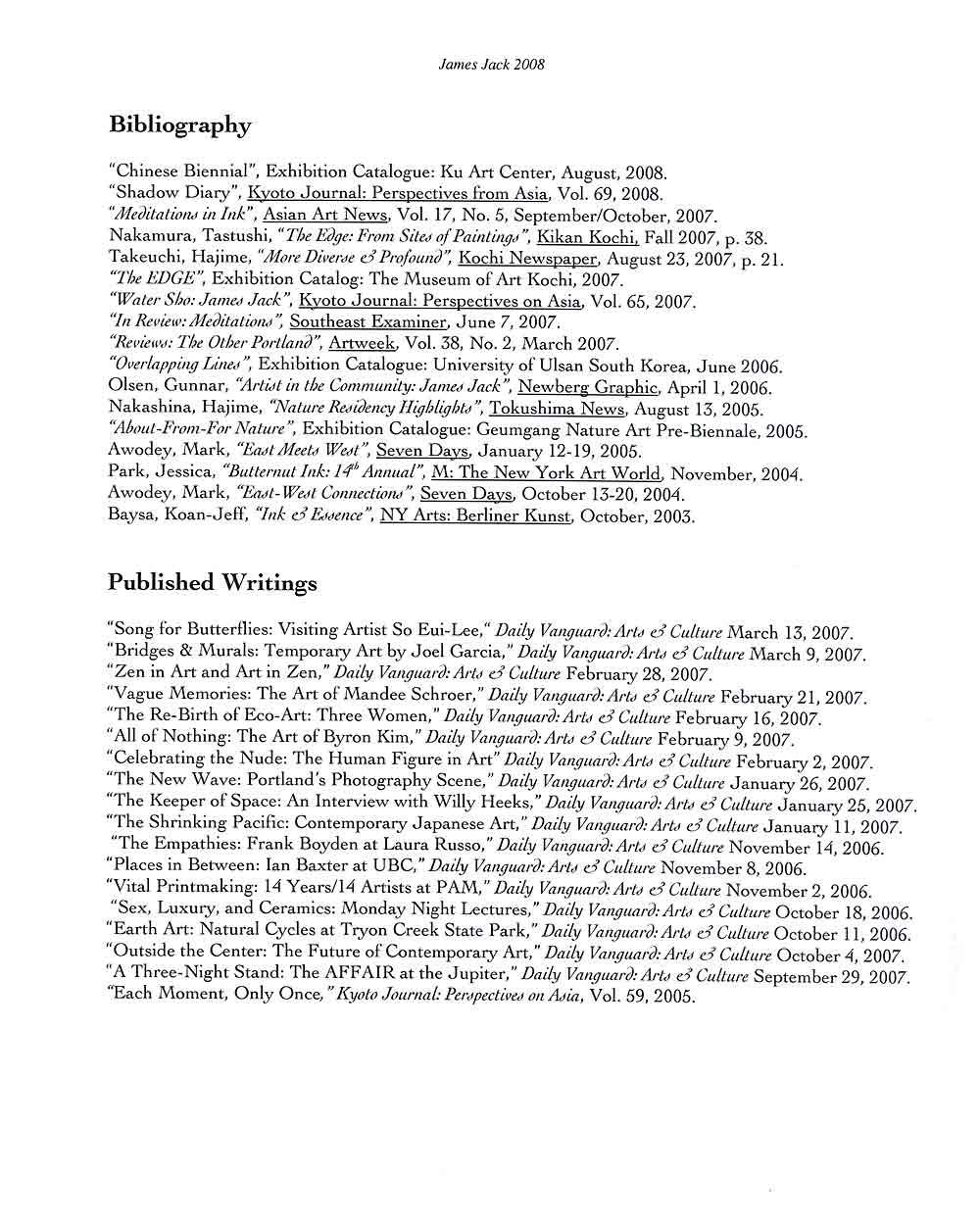 James Jack's Resume, pg 3