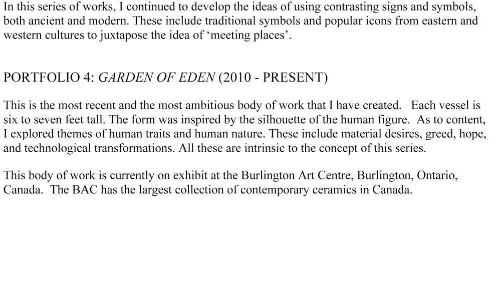 Artist Statement, 2010