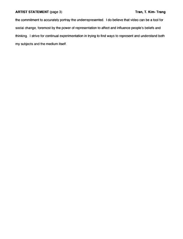 T. Kim-Trang Tran's statement, pg 3