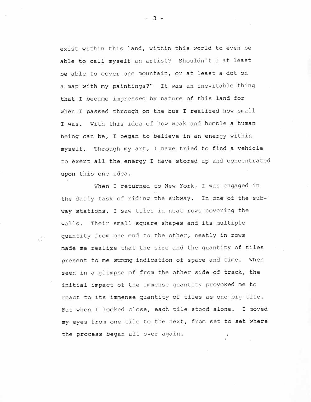 Ik-Joong Kang's Artist Statement, pg 3