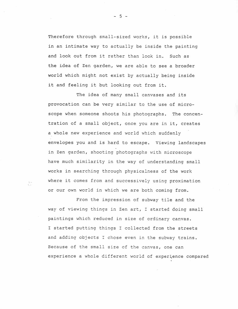 Ik-Joong Kang's Artist Statement, pg 5