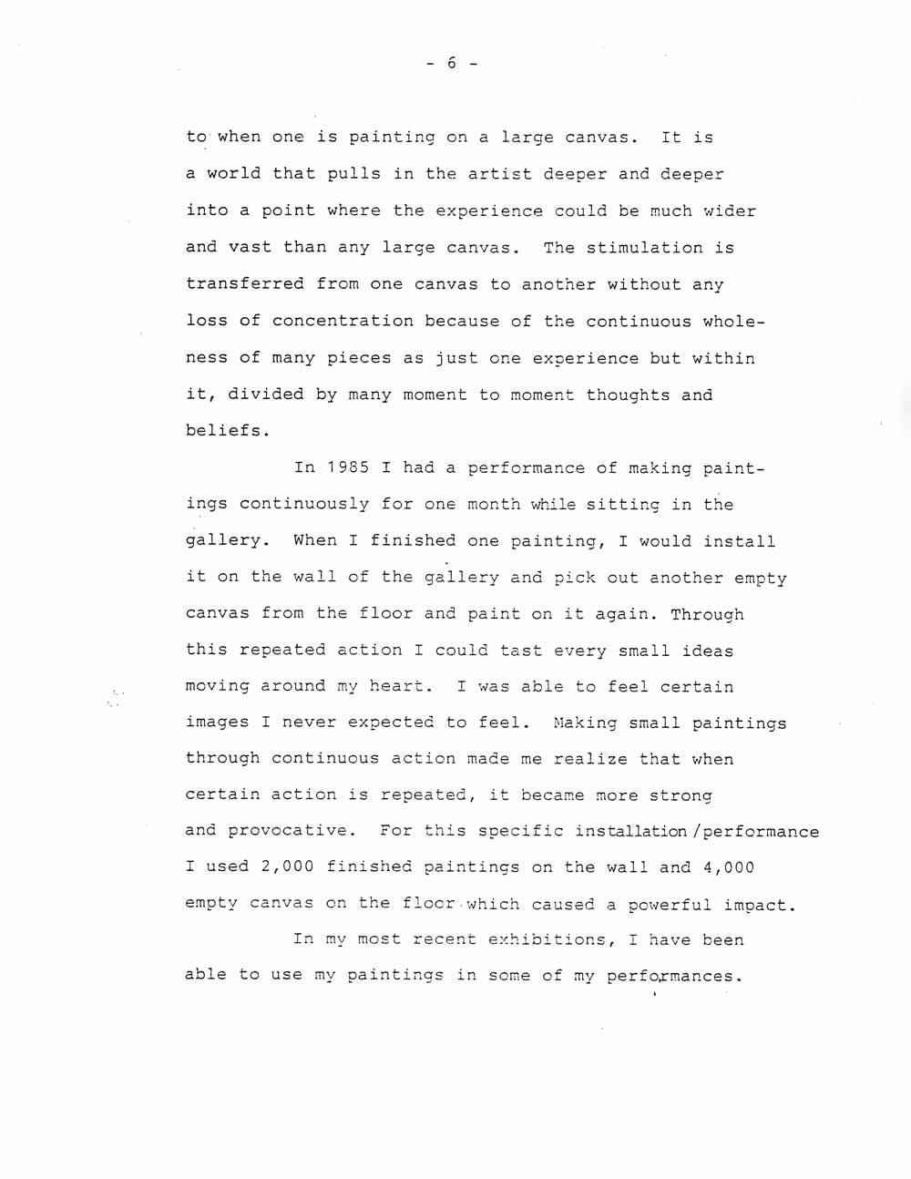 Ik-Joong Kang's Artist Statement, pg 6