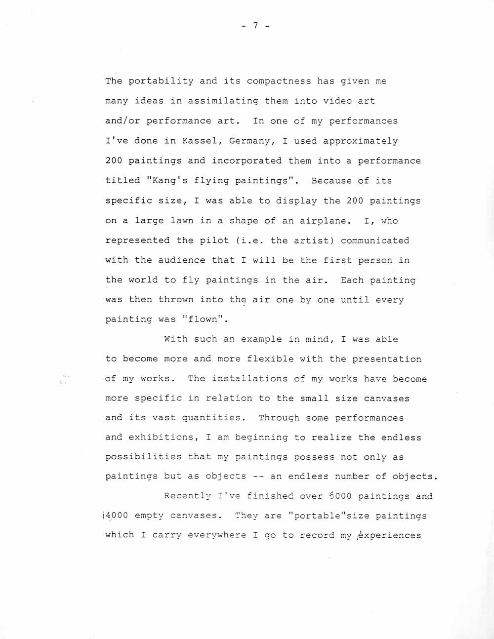 Ik-Joong Kang's Artist Statement, pg 7