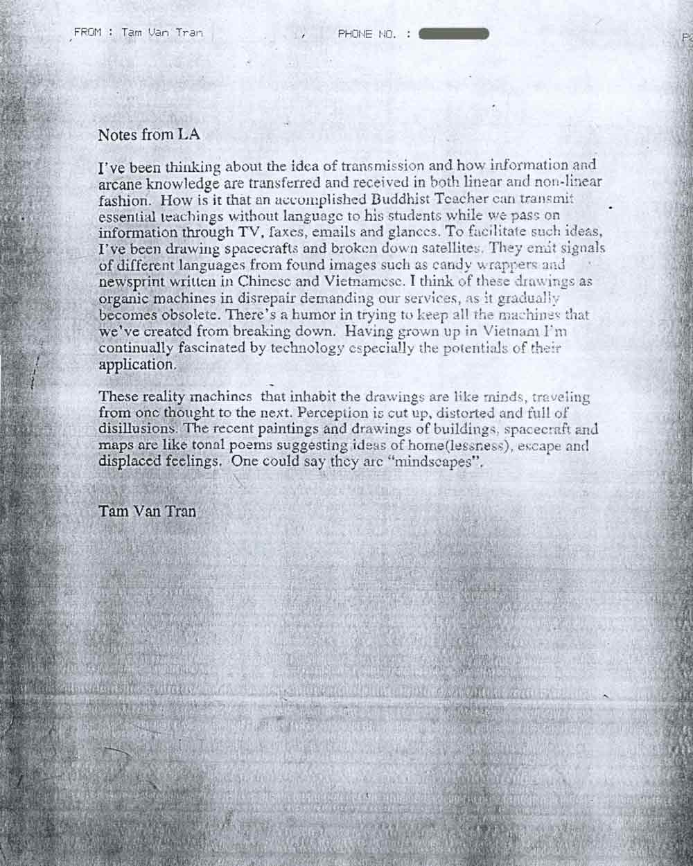 Artist Statement, pg 1