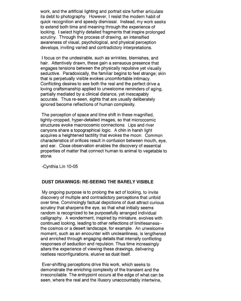 Cynthia Lin's Artist Statement (2), pg 2