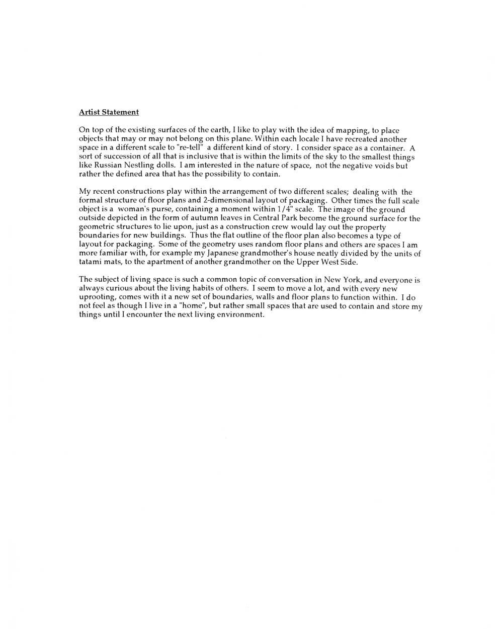 Micki Watanabe Spiller's Artist Statement (2)