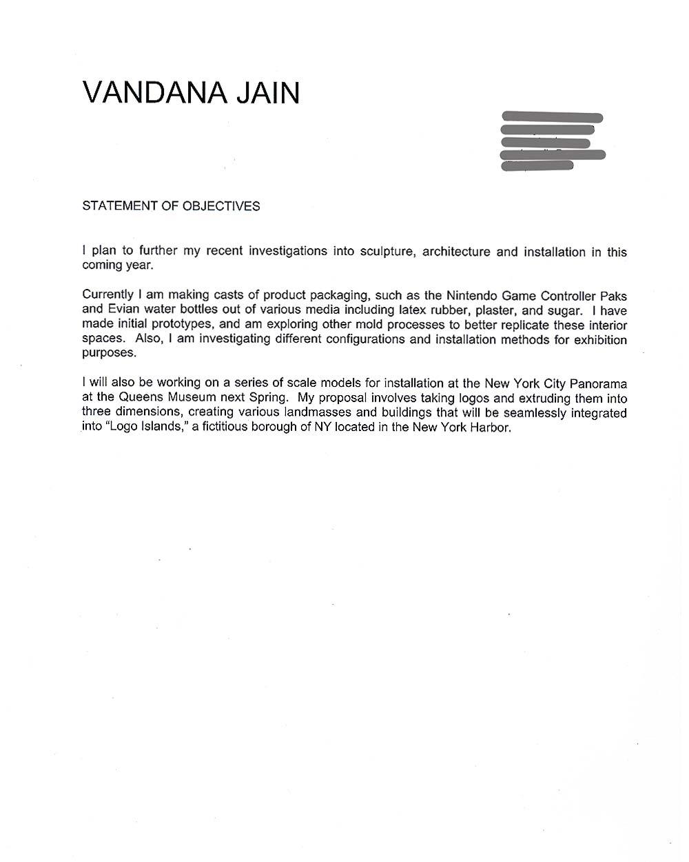 Vandna Jain's Artist Statement (2)
