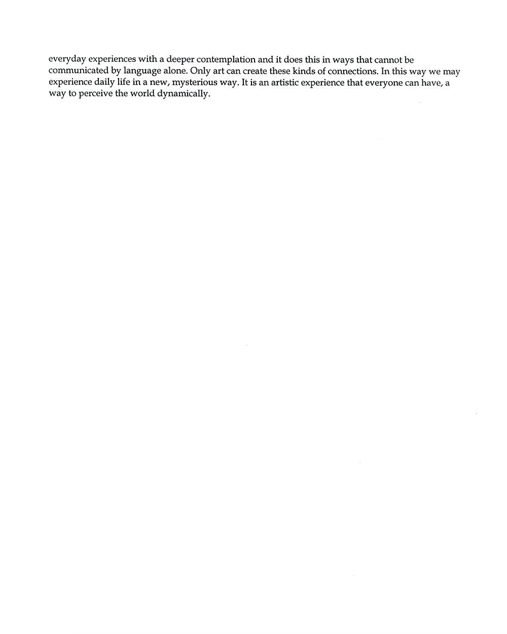 Hirokazu Fukawa's Artist Statement, pg 2