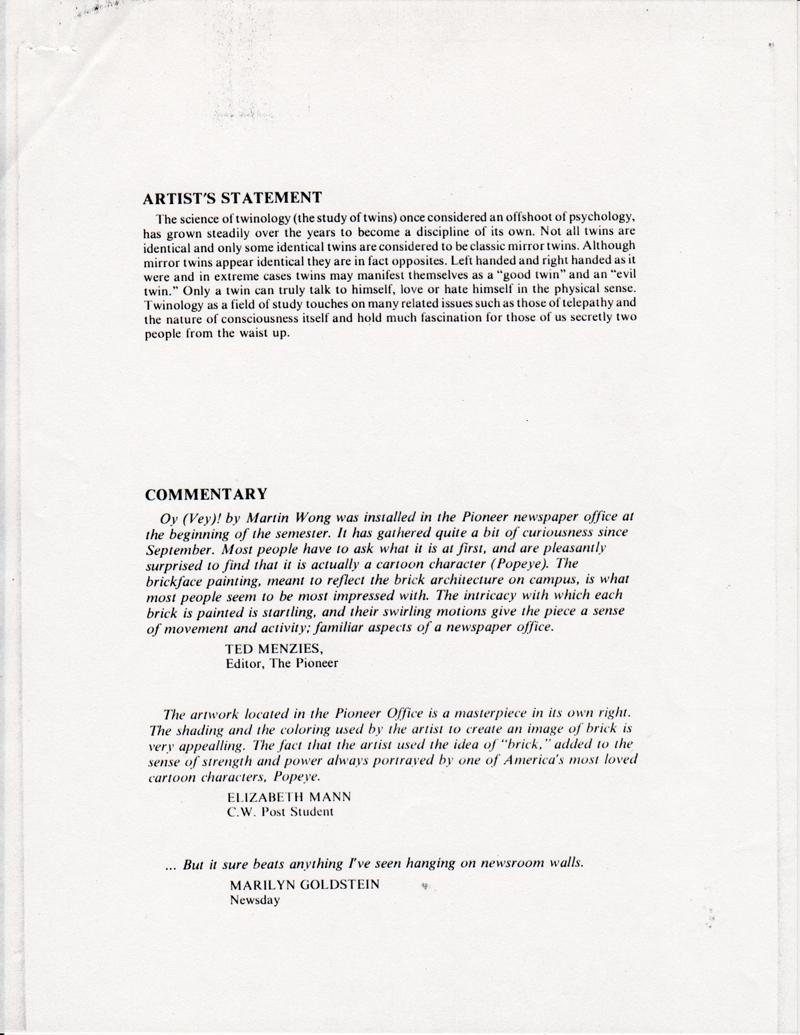 Artist's Resume