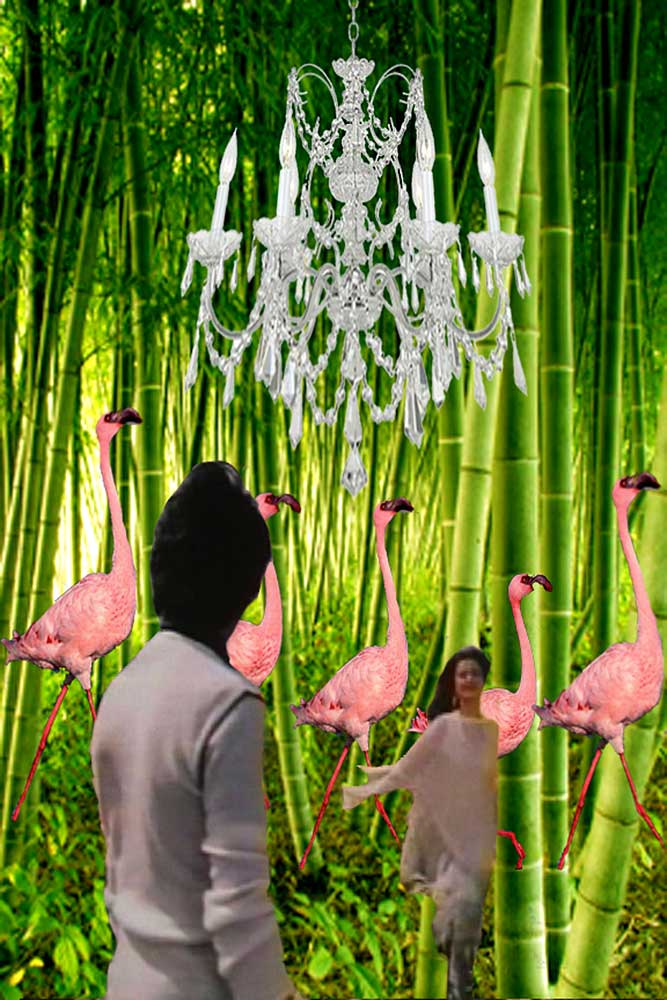 Bamboo Flamingo