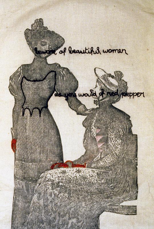 Beware of Beautiful Women (detail)