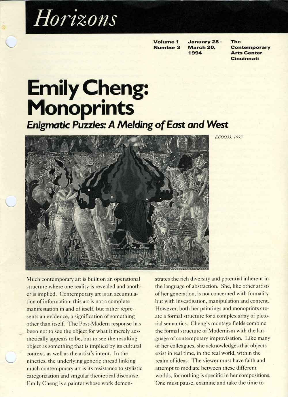 Emily Cheng: Monoprints, pg 1