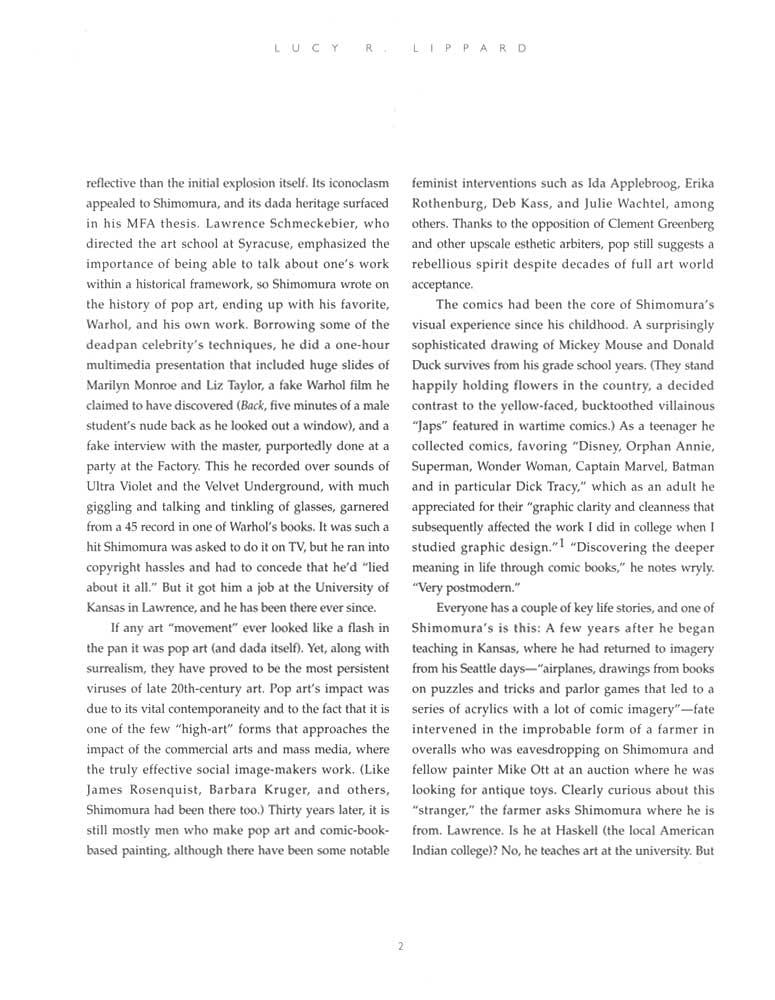 Delayed Reactions, brochure, pg 2