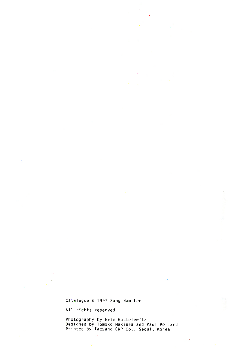 San Nam Lee: Project Recede II, catalog, pg 2