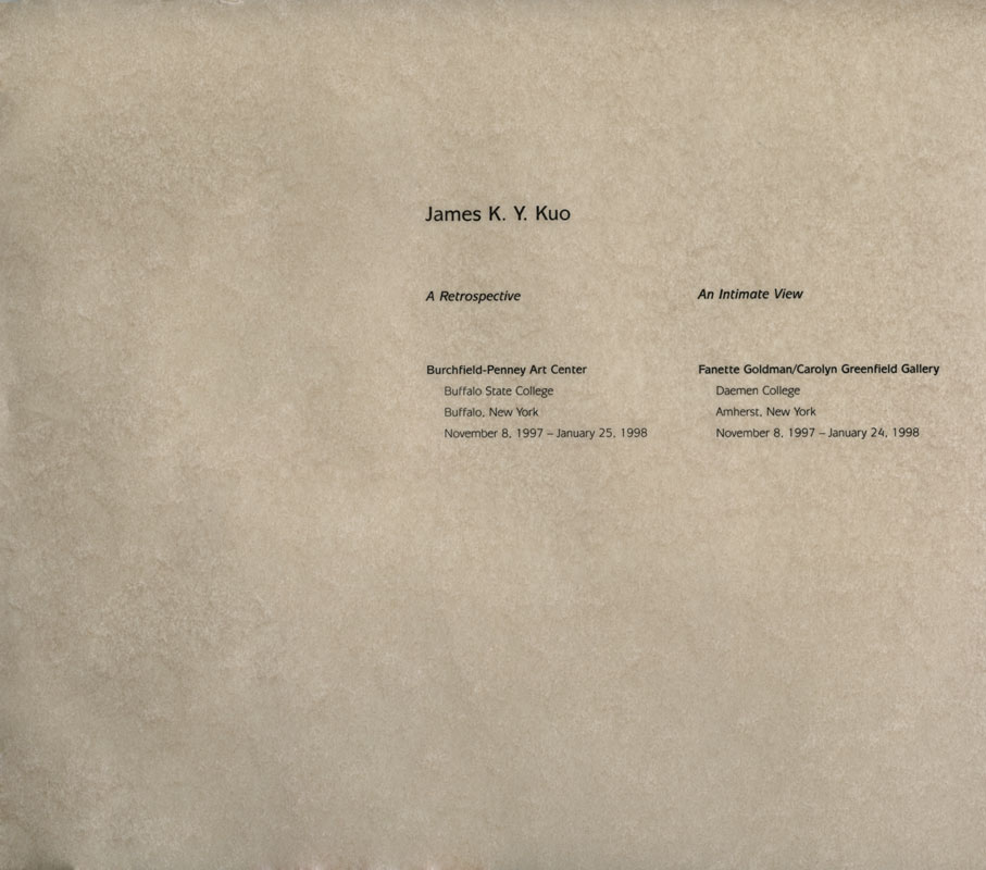 kuo james k y selected document artasiamerica a digital  james k y kuo an intimate view title page