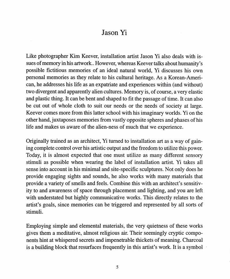 Jason Yi, catalog, pg 1