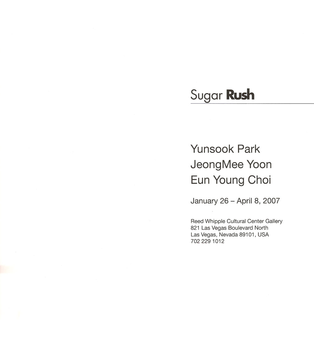 choi eun young selected document a digital  sugar rush title page