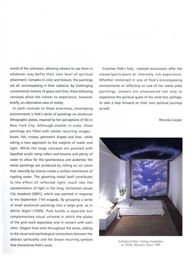 Younhee Paik: Ascending River, pg 3