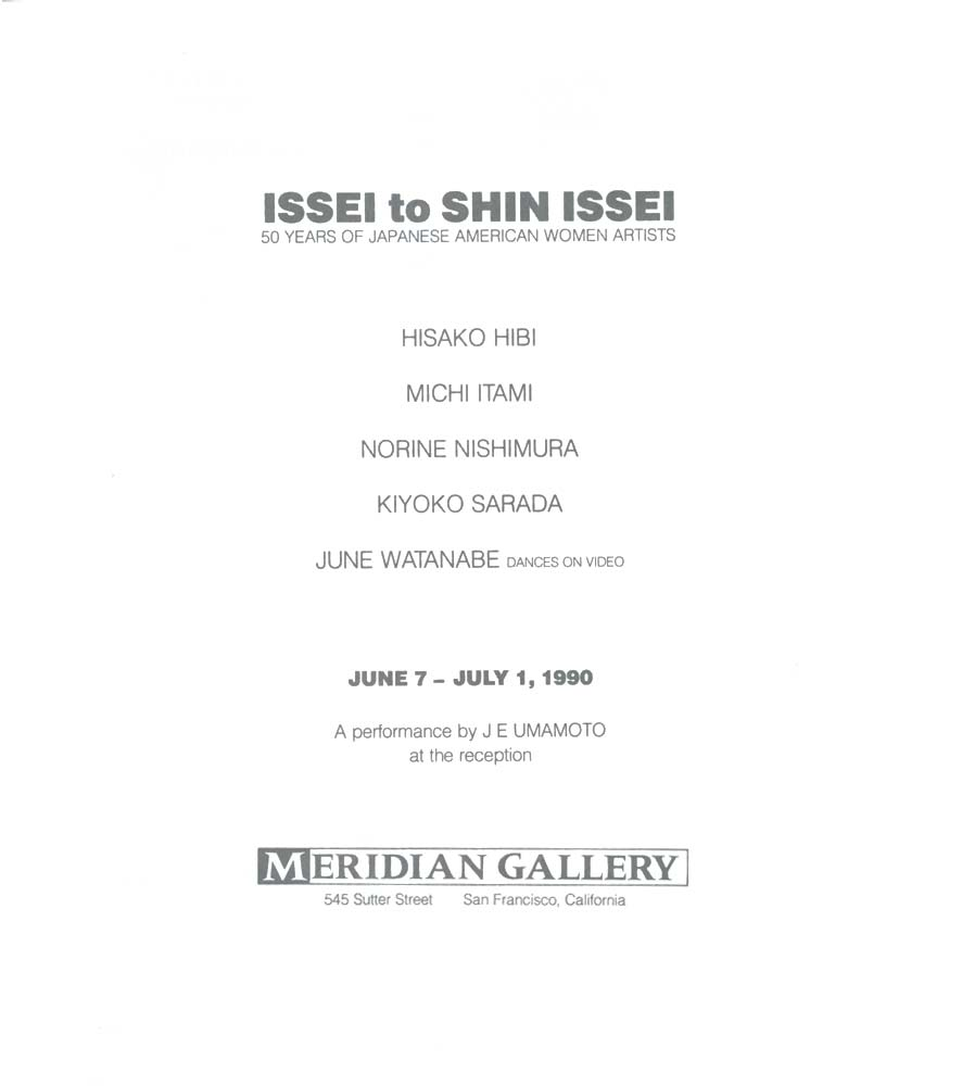 hibi hisako selected document a digital issei to shin issei title page