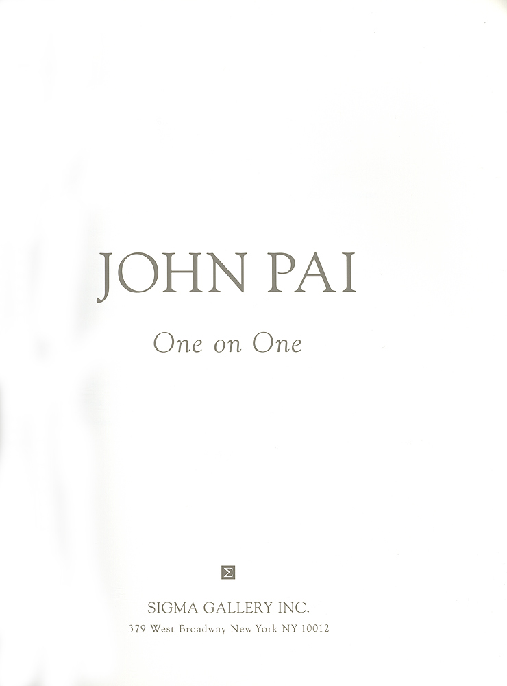John Pai: One on One, title page