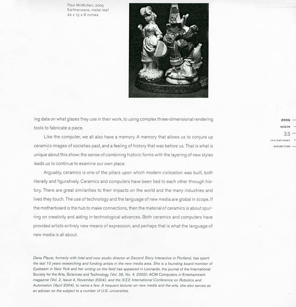ho sin ying selected document a digital excerpt from exhibition catalog essay the impact of new media and technology on ceramics