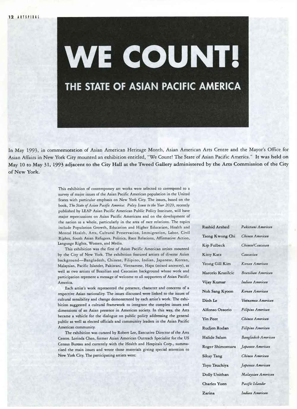 We Count!, pg 1
