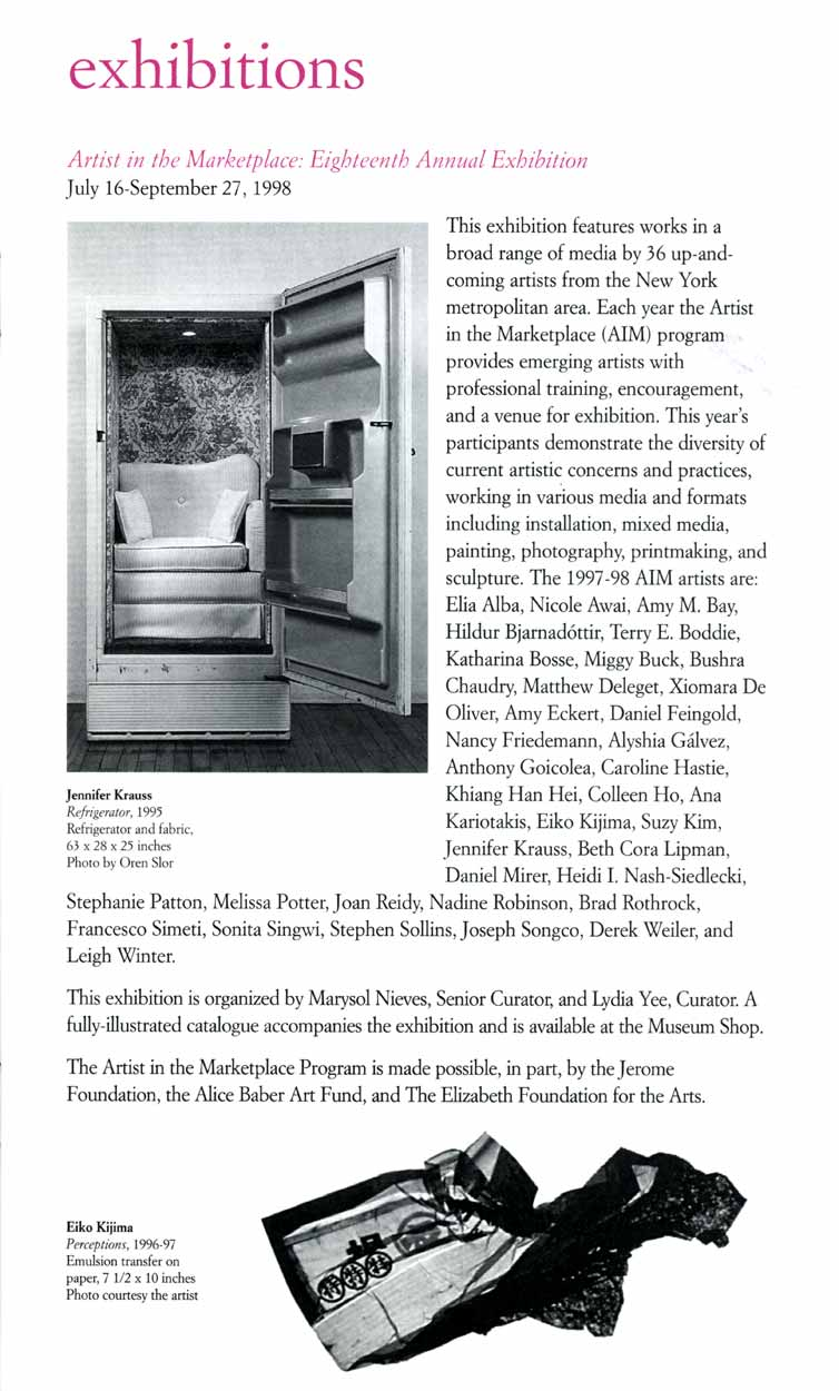 The Bronx Museum of the Arts, brochure, pg 2