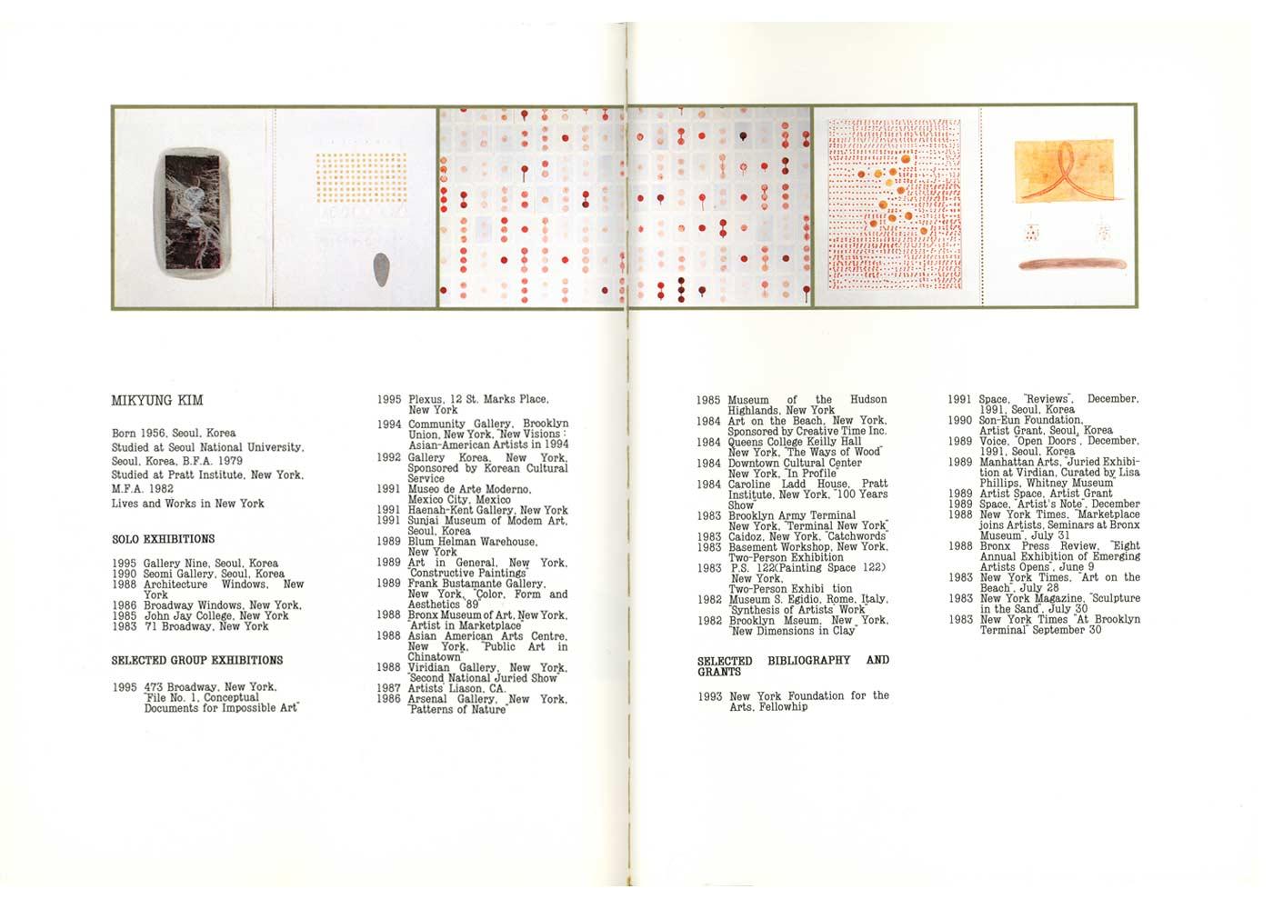 Mikyung Kim, catalog, biography