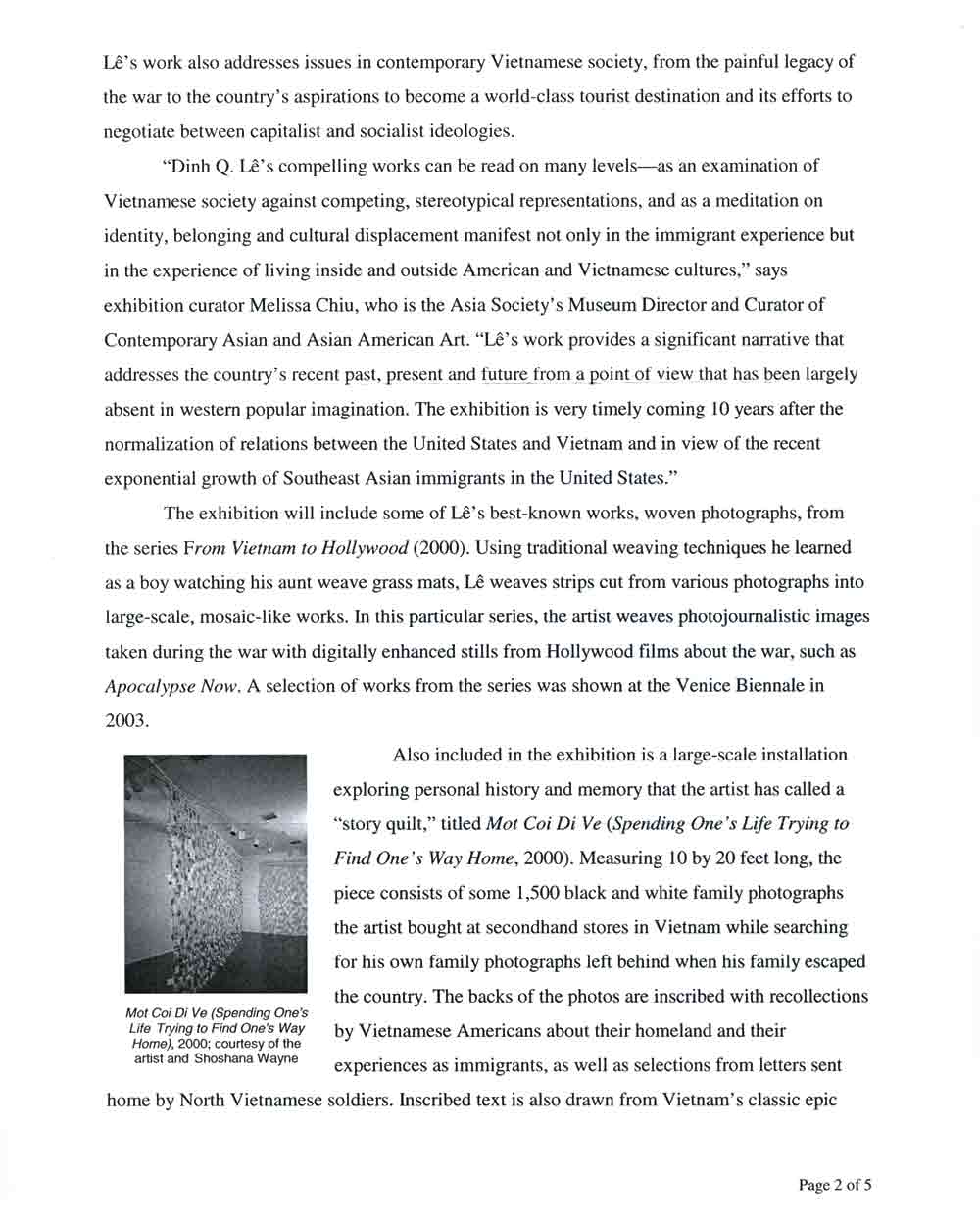 Vietnam: Destination press release, pg 2