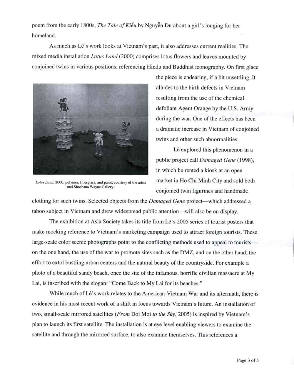 Vietnam: Destination press release, pg 3